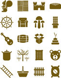 Brown icons Stock Images