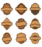 Set of brown labels Royalty Free Stock Photo
