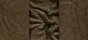 Set of brown leather textures. For background Stock Image