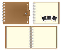 Set of Brown notebook Royalty Free Stock Photo