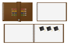 Set of Brown notebook Royalty Free Stock Photos