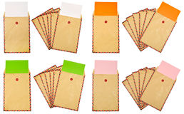Set Of Brown Paper Stock Photo