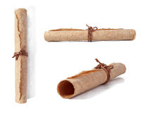 Set of brown paper roll Stock Photo