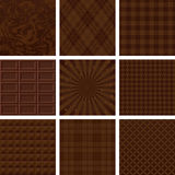 Set of brown patterns. chocolate background. Royalty Free Stock Photos