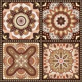 Set of brown romantic patterns. Vector Stock Images