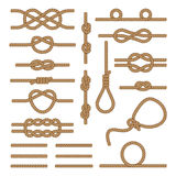 Set brown ropes. Stock Images