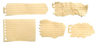 Set Of Brown Torn Papers Stock Photography