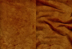 Set of brown velvet leather textures Royalty Free Stock Photography
