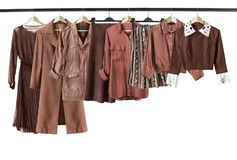 Brown clothes isolated Stock Image