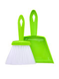 Set of brush and dustpan Stock Photo