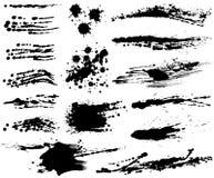 Set of brush stroke illustrations. Royalty Free Stock Image
