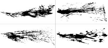 Set of brush stroke illustrations. Brush stroke illustrations. hand drawn shapes Stock Images