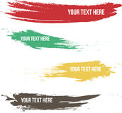 Set of brush stroke labeling. With more various color and shape Stock Photo
