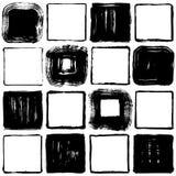 Set of brush stroke squares. hand drawn illustrations. Stock Photo