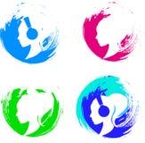 Set of brush strokes Stock Image