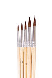 Set of brushes. Set of five brushes on different sizes Stock Photo