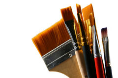 Set brushes. Isolated on white royalty free stock image