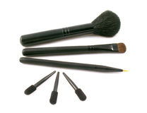 Set of brushes and applicators for make-up Stock Image