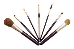 A set of brushes for applying makeup Royalty Free Stock Photo