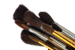 A set of brushes of the artist. A set of watercolor brushes artist isolated on white background royalty free stock image