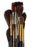 A set of brushes of the artist. A set of watercolor brushes artist isolated on white background stock photo