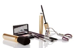 Set of brushes for make-up Royalty Free Stock Image