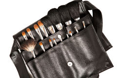 Set of brushes for makeup Stock Image
