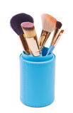 A set of brushes for makeup Royalty Free Stock Photo