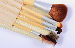 Set of brushes for makeup Royalty Free Stock Photography