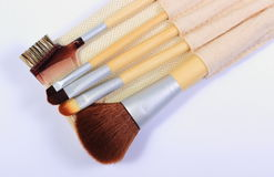 Set of brushes for makeup Royalty Free Stock Photo