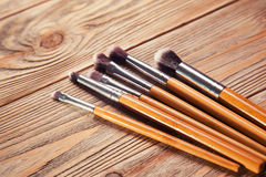 Set of brushes for makeup Royalty Free Stock Images