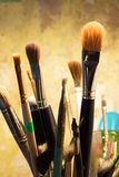 Set of brushes for painting Royalty Free Stock Image