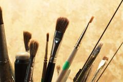 Set of brushes for painting Royalty Free Stock Photography