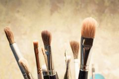 Set of brushes for painting Royalty Free Stock Images