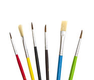 Set of brushes for painting. On white Royalty Free Stock Image