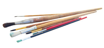 Set of brushes royalty free stock image
