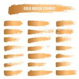 Set of brushes, paints, strokes, lines. Grunge Royalty Free Stock Images
