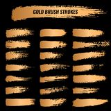Set of brushes, paints, strokes, lines. Grunge Stock Image