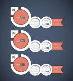 Set of 3 bubble banners. Can be used for infographics / web design / numbered banners Stock Image