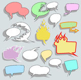 Set of bubble speech design. Royalty Free Stock Photography