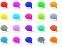 Set of bubbles. Set of  round color bubbles -  illustration Stock Image