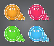 Set of bubbles, stickers, labels, tags. Numbered s. Peech bubbles. Vector template for infographics Royalty Free Stock Image