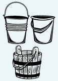 Set of buckets Royalty Free Stock Images