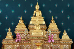 Set of buddha images table. royalty free stock images