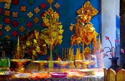 A set of Buddha`s offering Royalty Free Stock Photography
