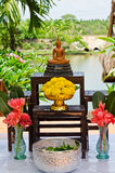 Set of buddha for Songkran festival Stock Photography