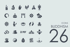 Set of buddhism icons Royalty Free Stock Photography
