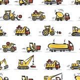 Set budowy wyposażenie, bezszwowy wzór ilustracja wektor