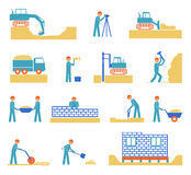 Set of builder construction industry icons Royalty Free Stock Photos