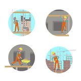 Set of builders Royalty Free Stock Photography